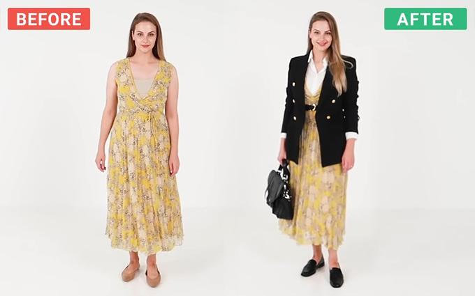 Đủ cách mix một chiếc váy hè cho mùa thu - 2