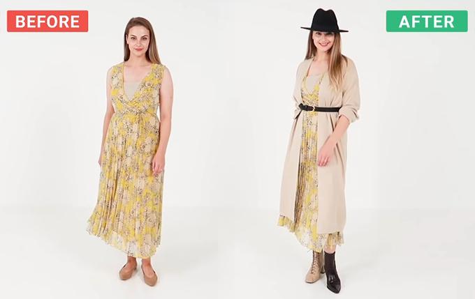 Đủ cách mix một chiếc váy hè cho mùa thu - 3
