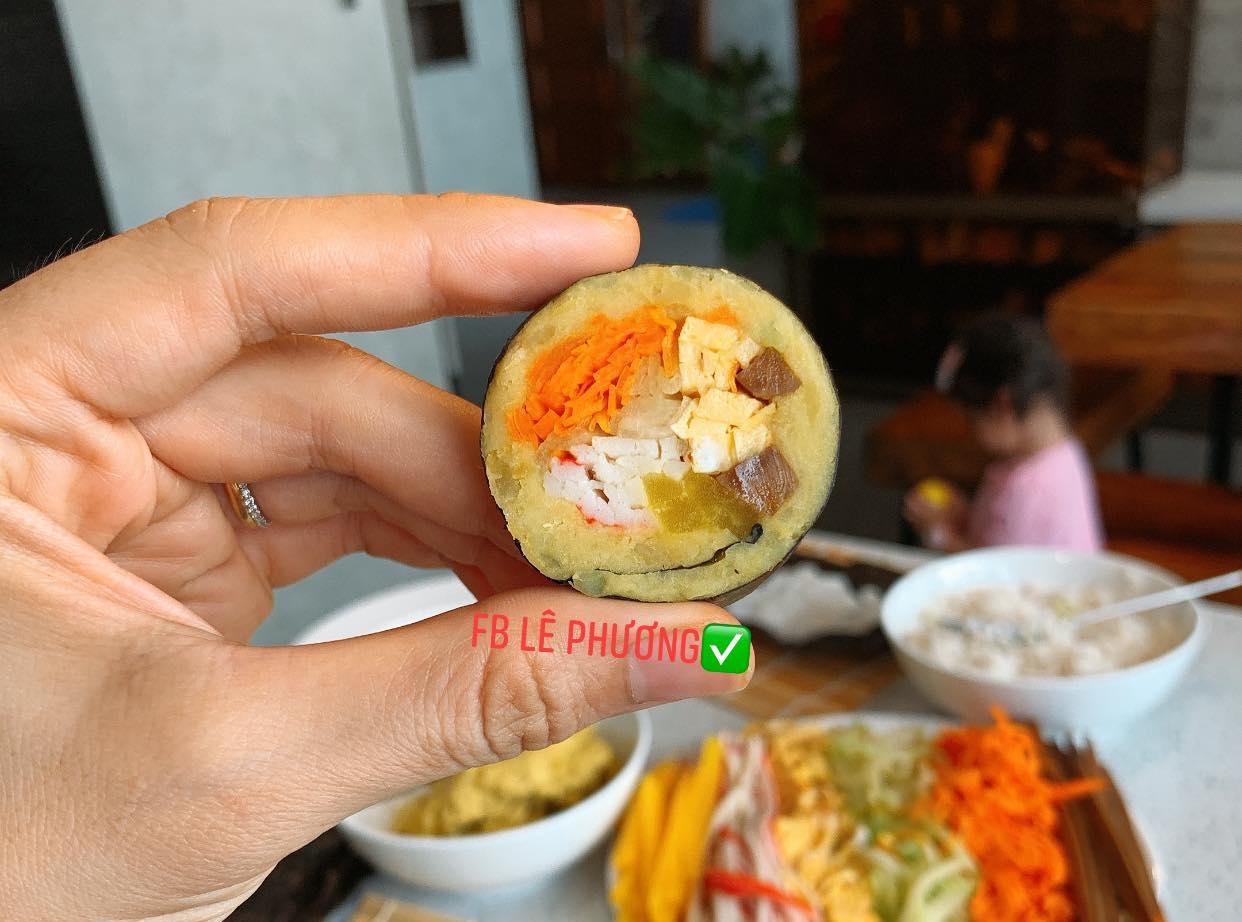 Kimbab khoai lang.