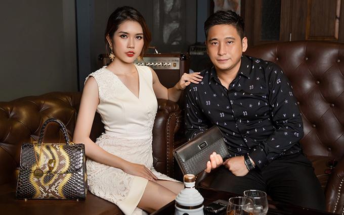 Vợ chồng Minh Tiệp và Thùy Dương.