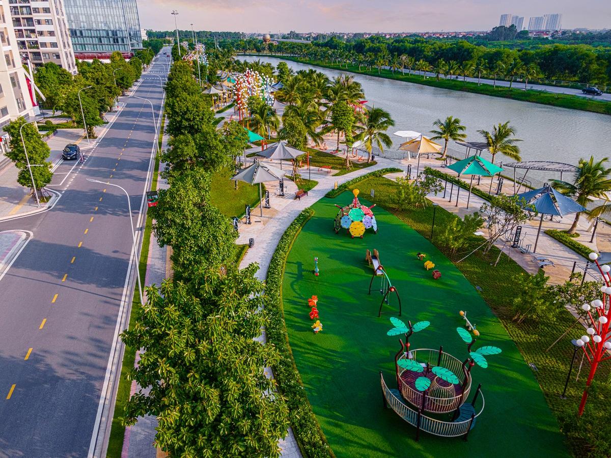 Đại đô thị Vinhomes Ocean Park sở hữu không gian sống thoáng đạt, tiện ích nội khu đa dạng.