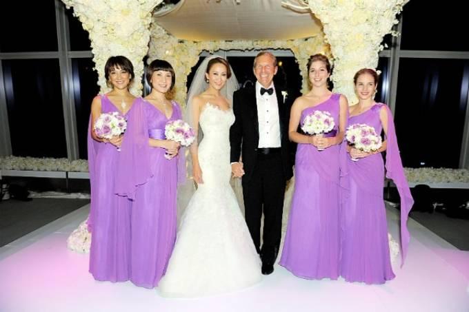 Coco Lee và chồng trong đám cưới. Ảnh: TPG