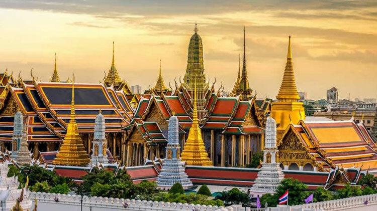 Hoàng cung Thái Lan ở Bangkok. Ảnh:Trawell