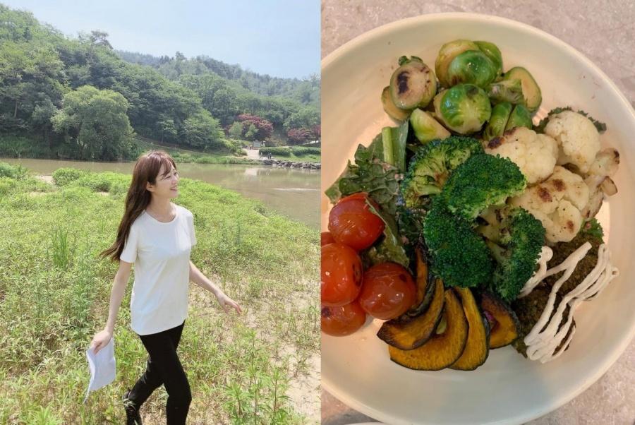 Thực đơn của Kim Hyo Jin lành mạnh, thuần chay, bổ sung thêm sữa và trứng.