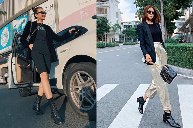 Các kiểu quần và giày đi kèm phong phú chứng minh độ bắt trend của mỹ nhân 8x.