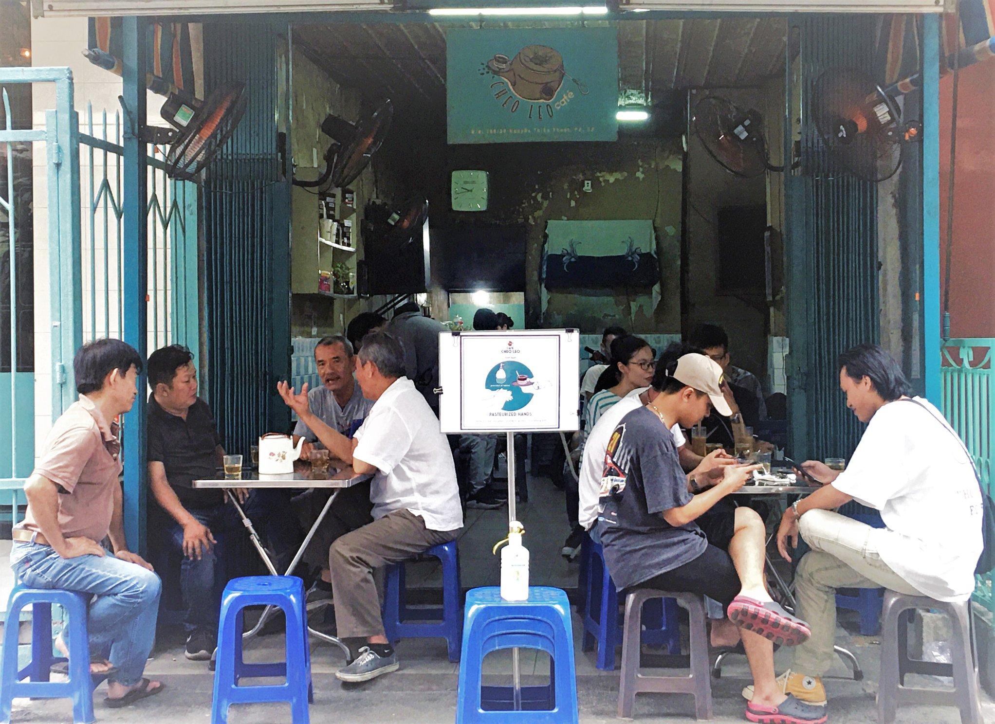 Cheo Leo khi được bán tại chỗ. Ảnh: Facebook Cheo Leo Cafe