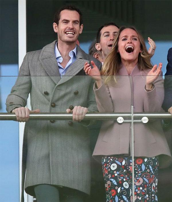 Andy Murray và bà xã Kim Sears. Ảnh: PA