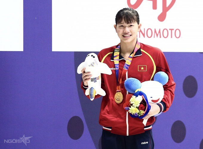 Ánh Viên giành tới 25 HC vàng SEA Games kể từ năm 2013 tới nay. Ảnh: Đương Phạm