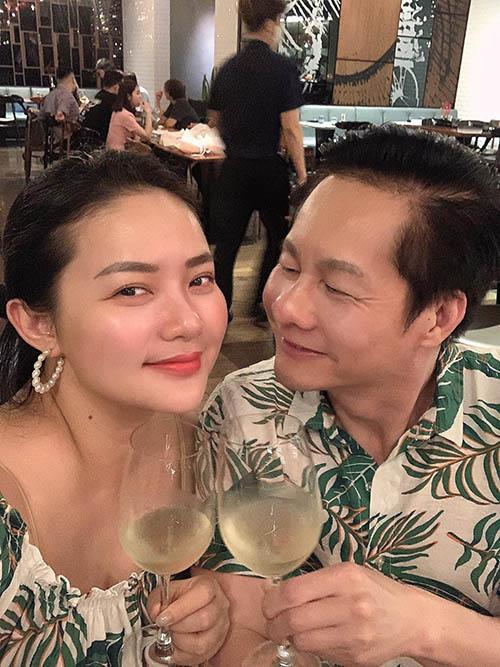 Phan Như Thảo và chồng.