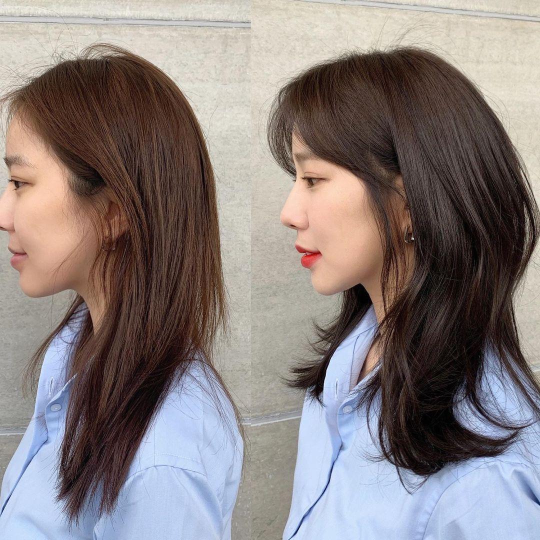 Mái tóc có độ phồng giúp chỉnh sửa khuyết điểm trên gương mặt, giúp phần đầu và cằm thêm cân đối tỷ lệ.