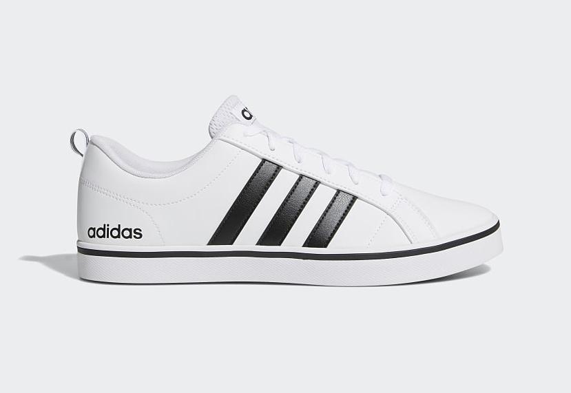 Giày thể thao nam Adidas VS Pace AW4594 giảm 50% còn 1,19 triệu đồng; chất liệu bên ngoài da trơn nhẵn; đáy cao su, TPU và EVT đế dày; chống mài mòn; chống trơn trượt, phù hợp với bàn chân thon.