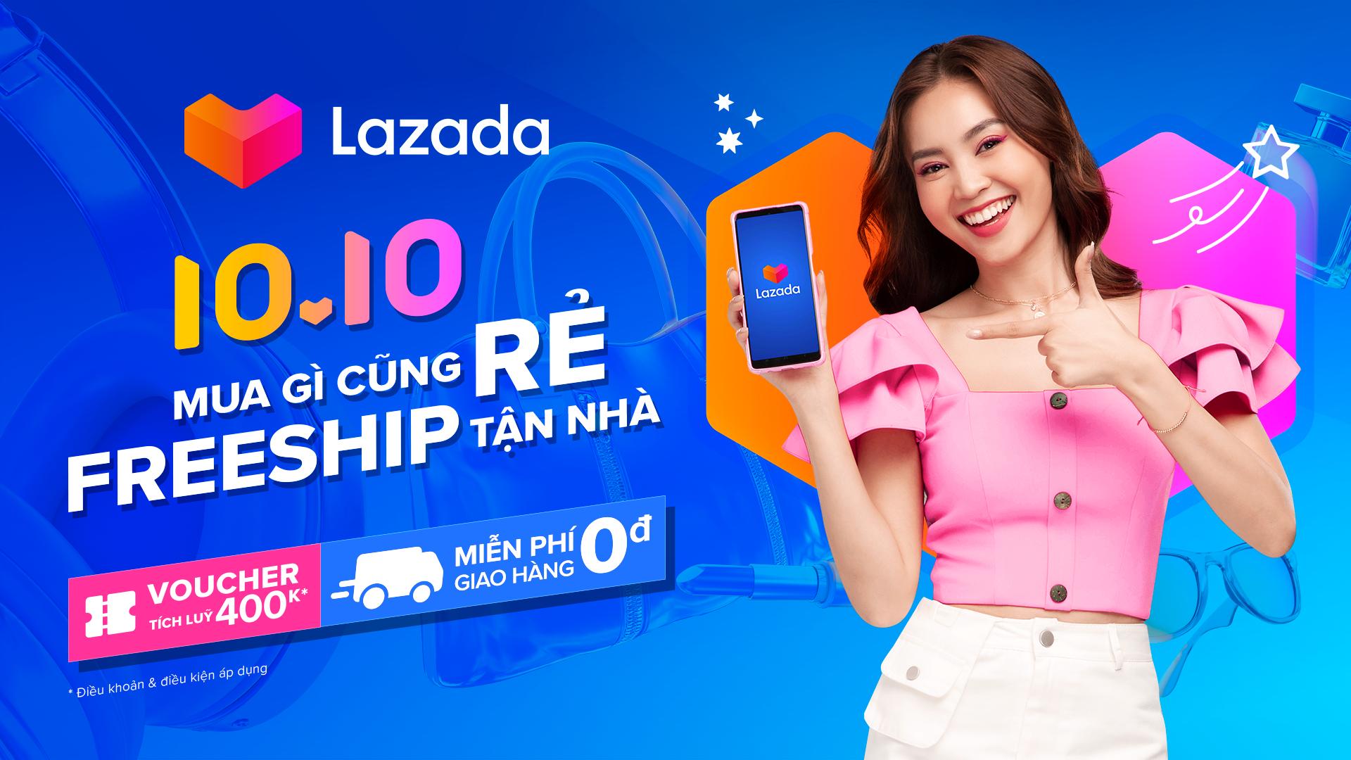 Lazada 10.10 Sale gấp bội đã quay trở lại và mang đến cho khách hàng cơ hội MUA GÌ CŨNG RẺ chưa từng có với voucher tích lũy lên đến 400k, lại được FREESHIP tận nhà từ 10/10 đến 14/10. Đây cũng là dịp Lazada Việt Nam tiên phong tổ chức và công bố Ngày Tôn vinh Doanh nhân Công nghệ 10/10 nhằm ghi nhận sự đóng góp của những doanh nhân kinh doanh trực tuyến vào nền kinh tế và lĩnh vực thương mại điện tử Việt Nam.Truy cập ngay webite và app Lazada để khám phá thêm những thông tin & ưu đãi bùng nổ trong Lễ hội mua sắm 10.10 và sự kiện Ngày Doanh nhân Công nghệ Việt Nam tại đây nhé!