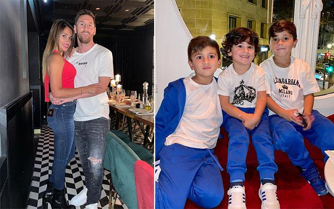 Vợ chồng Messi và ba con bắt đầu ổn định cuộc sống ở Paris. Ảnh: Instagram Antonella