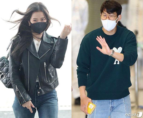 Đôi trai tài gái sắc từ Paris về Seoul, Hàn Quốc, ngày 5/10 dù chàng đang sống ở London, Anh. Ảnh: Nate News