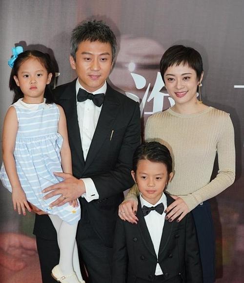 Tôn Lệ đưa hai con đến dự ra mắt phim mới của Đặng Siêu năm 2020. Ảnh: Read01