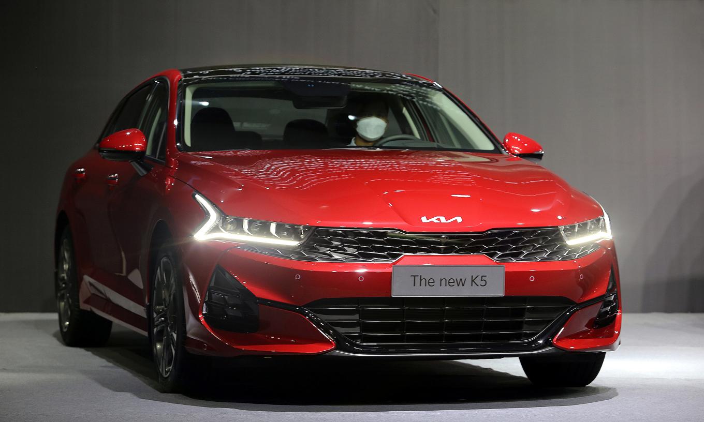 Kia K5 ra mắt tại nhà máy ở Quảng Nam. Ảnh: Đắc Thành