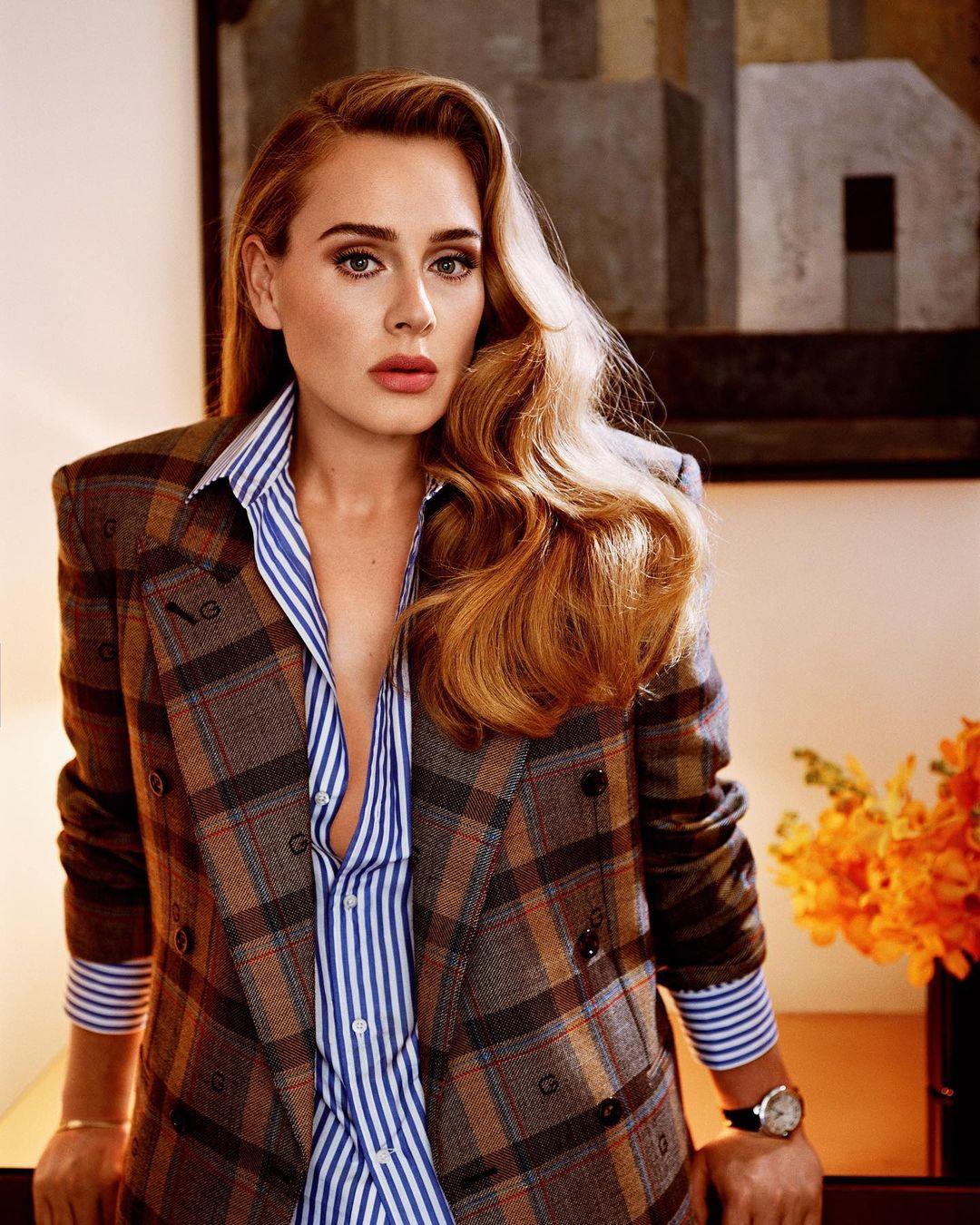 Adele chụp hình cho Vogue Mỹ.