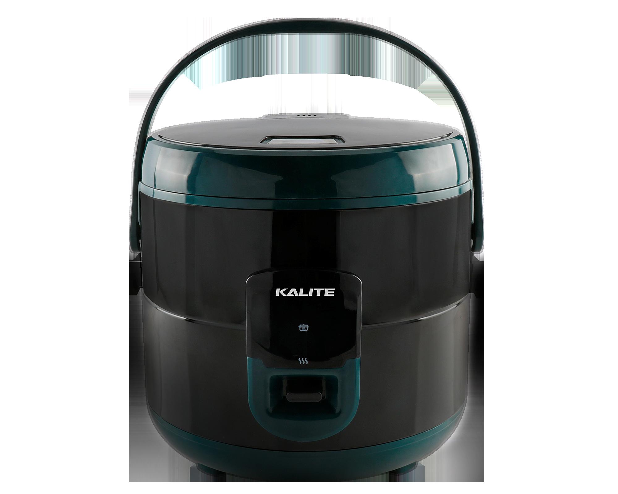 Nồi cơm điện Kalite KL 619dung tích 1,8 lít, công suất 700 W, nhiệt lượng lan tỏa từ dưới đáy, xung quanh thân và trên nắp nồi cùng lúc giúp hạt cơm chín đều từ từ. Lòng nồi bằng hợp kim nhôm, phủ lớp chống dính Teflon, được thiết kế dạng niêu đất, tạo dòng sôi tuần hoàn giúp cơm ngon. Thân nồi bằng inox và nhựa ABS cách nhiệt, chịu lực và nhiệt tốt. Vung nồi 2 lớp giúp giữ nhiệt lâu hơn, nắp nồi có thể mở với 1 nút bấm. Nồi thích hợp để nấu cơm và giữ ấm, nấu súp, hầm, hấp thịt và rau. Phụ kiện đi kèm: một thìa xới cơm, một khay hấp, một cốc đong gạo. Nồi bảo hành 12 tháng, đang được ưu đãi 31% còn 890.000 đồng, tặng thêm ba bình thủy tinh UNIE UN-100 dung tích 450 ml.