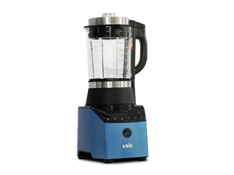 Máy làm sữa hạt Unie V3có thân máy bằng nhựa, cối thủy tinh 5 lớp chịu được nhiệt độ đến 300 độ C, dung tích 1,75 lít. Công suất 1.800 W, máy vừa xay vừa nấu với 6 chức năng chuyên sâu: soybean milk (sữa thảo mộc), rice paste (cháo bột), porridge (cháo lợn gợn), juice (hoa quả), smoothie (sinh tố đá bào), grind (xay khô). Lưỡi dao bát giác 360° làm từ inox 304 có khả năng xay nghiền hạt siêu mịn. Sản phẩm đang được ưu đãi 31% còn 1,89 triệu đồng, ngoài ra tặng thêm tặng 3 bình thủy tinh Unie UN-100.