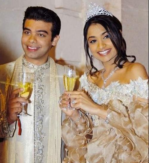 Chú rể Amit Bhatia và cô dâu Vanisha Mittal. Ảnh: Forbes