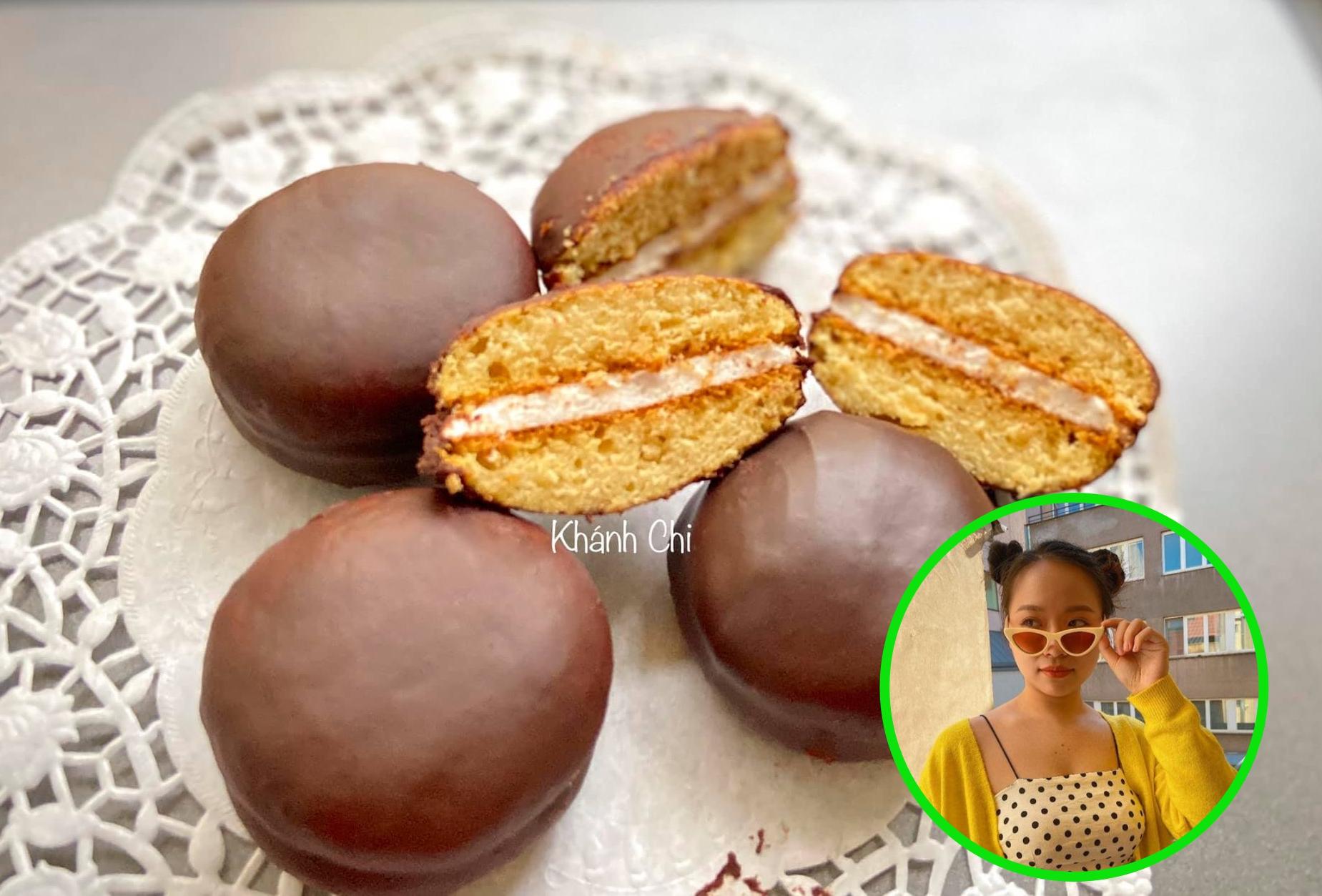Bánh chocopie của Khánh Chi.