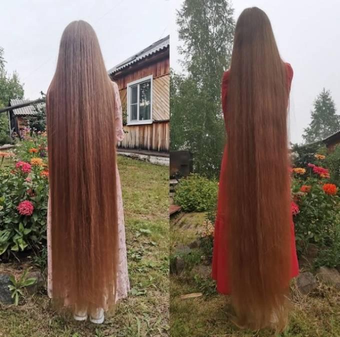 Anzheilika tự hào khi không chăm sóc nhiều nhưng tóc vẫn mềm mượt, bóng khỏe. Ảnh: Instagram