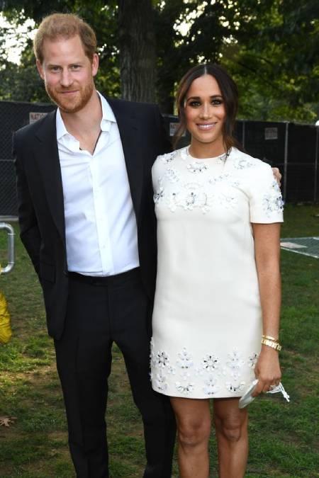 Vợ chồng Harry trong sự kiện ở New York hôm 25/9 .Ảnh: Global Citizen