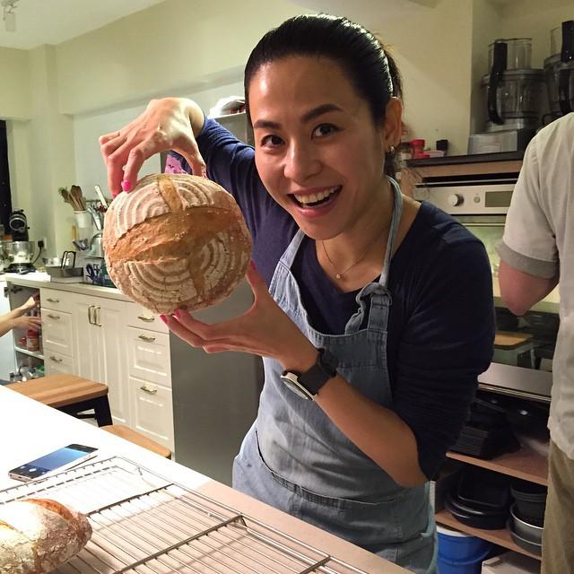 [Caption] My first sour dough. 2015