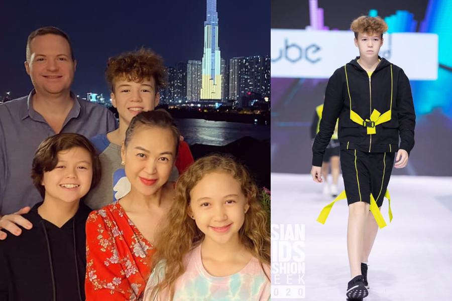 Cựu người mẫu Ngọc Nga có ba người con lai Tây. Trong đó, con trai đầu - William mới 15 tuổi cao 1,9 m.