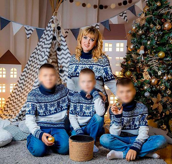 Yevgenia và ba con trai trước khi qua đời. Ảnh: East2west News