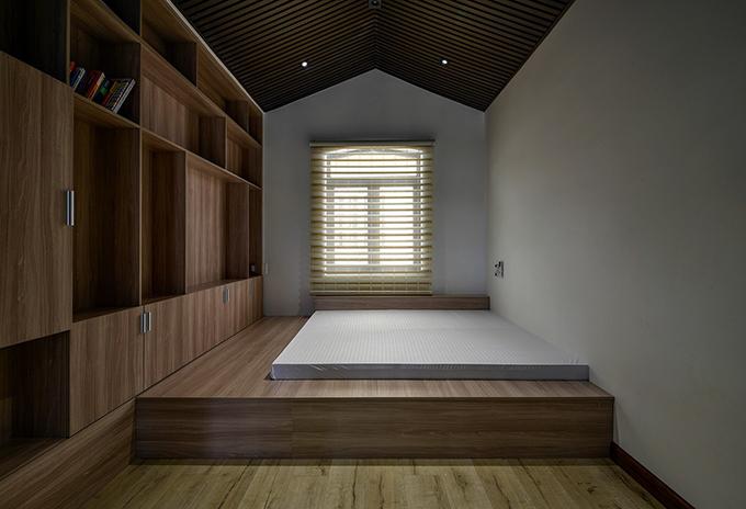 Phòng ngủ tối giản theo phong cách người Nhật. Nội thất gỗ được ưu tiên.