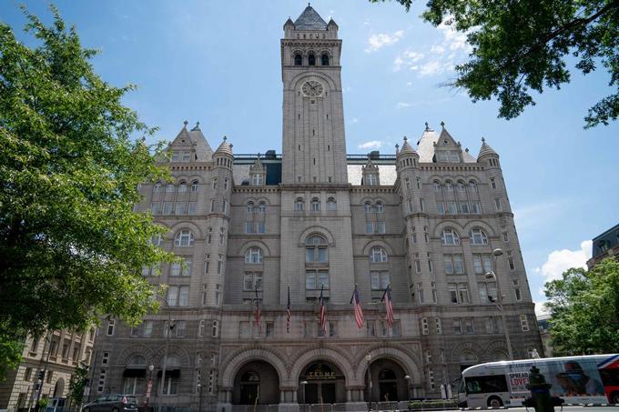 Khách sạn Quốc tế Trump ở Washington, Mỹ. Ảnh: Bloomberg.