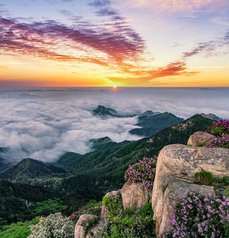 Bình minh trên núi Thái Sơn. Ảnh: China Discovery