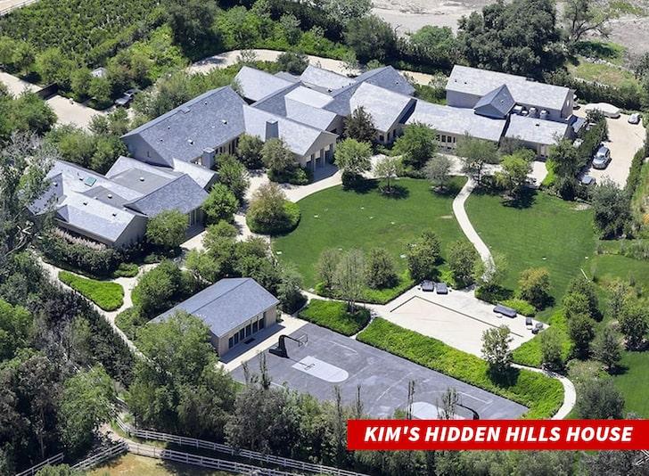 Dinh thự của Kim nhìn từ trên cao.