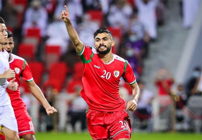 Oman lội ngược dòng thắng Việt Nam 3-1 trên sân nhà tối 12/10. Ảnh: AFC