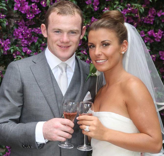 Rooney và Coleen tổ chức hôn lễ ở Italy năm 2008. Ảnh: The Sun