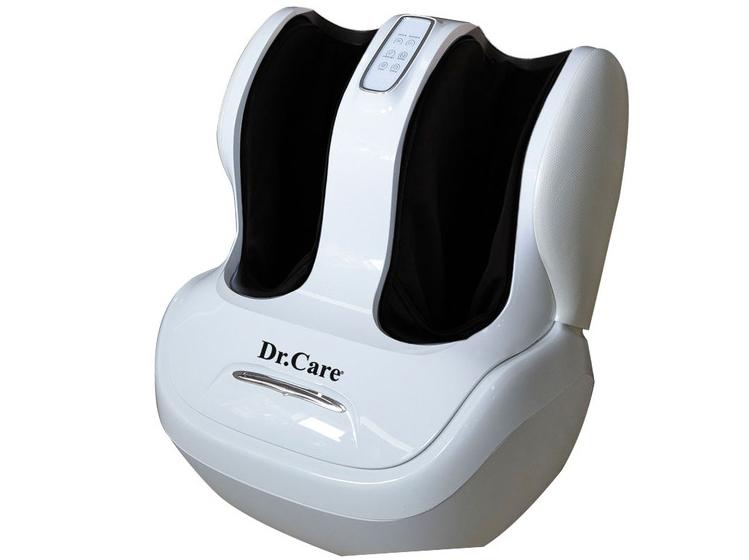 Máy massage chân Dr.Care DR-FM333tích hợp kỹ thuật massage HLME bao gồm rung, lăn, xoa, vuốt, miết, chà xát, cuộn tròn, ấn huyệt bắp chân và lòng bàn chân, chăm sóc từng ngón chân, thông qua các con lăn 3D và túi khí. Máy cài sẵn nhiều chương trình massage trị liệu theo các bài tập của các chuyên gia sức khỏe và bác sỹ tại Mỹ. Các chương trình massage có thể điều khiển qua màn hình cảm ứng. Sản phẩm làm từ da PVC và ABS composite, sơn theo công nghệ sơn ôtô với độ bền 15 năm, sử dụng nguồn điện 220 V. Bảo hành 1 đổi 1 trong vòng một năm. Kiểm tra hàng chính hãng bằng dãy số seri trên trang web tại Mỹ. Giá niêm yết 15 triệu đồng, hiện giảm 47% còn 7,99 triệu đồng.