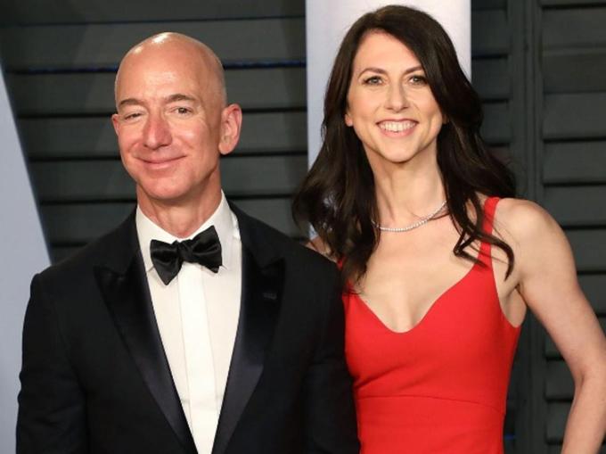 Jeff Bezos - MacKenzie Scott. Ảnh: