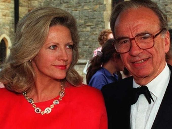 Anna Maria Mann và Rupert Murdoch. Ảnh: The Economic Times
