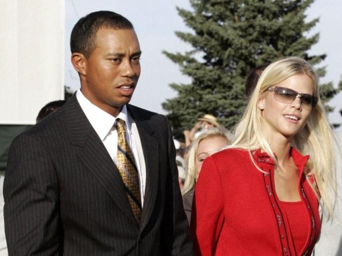 Tiger Wood và Erin Nordegren. Ảnh: