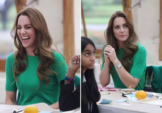 Kate diện áo khoác từ 5 năm trước đi gặp các em học sinh - 7