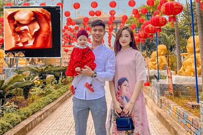 Văn Đức và bà xã Nhật Linh chuẩn bị đón con thứ hai sau hai năm kết hôn. Ảnh: Facebook Phan Văn Đức