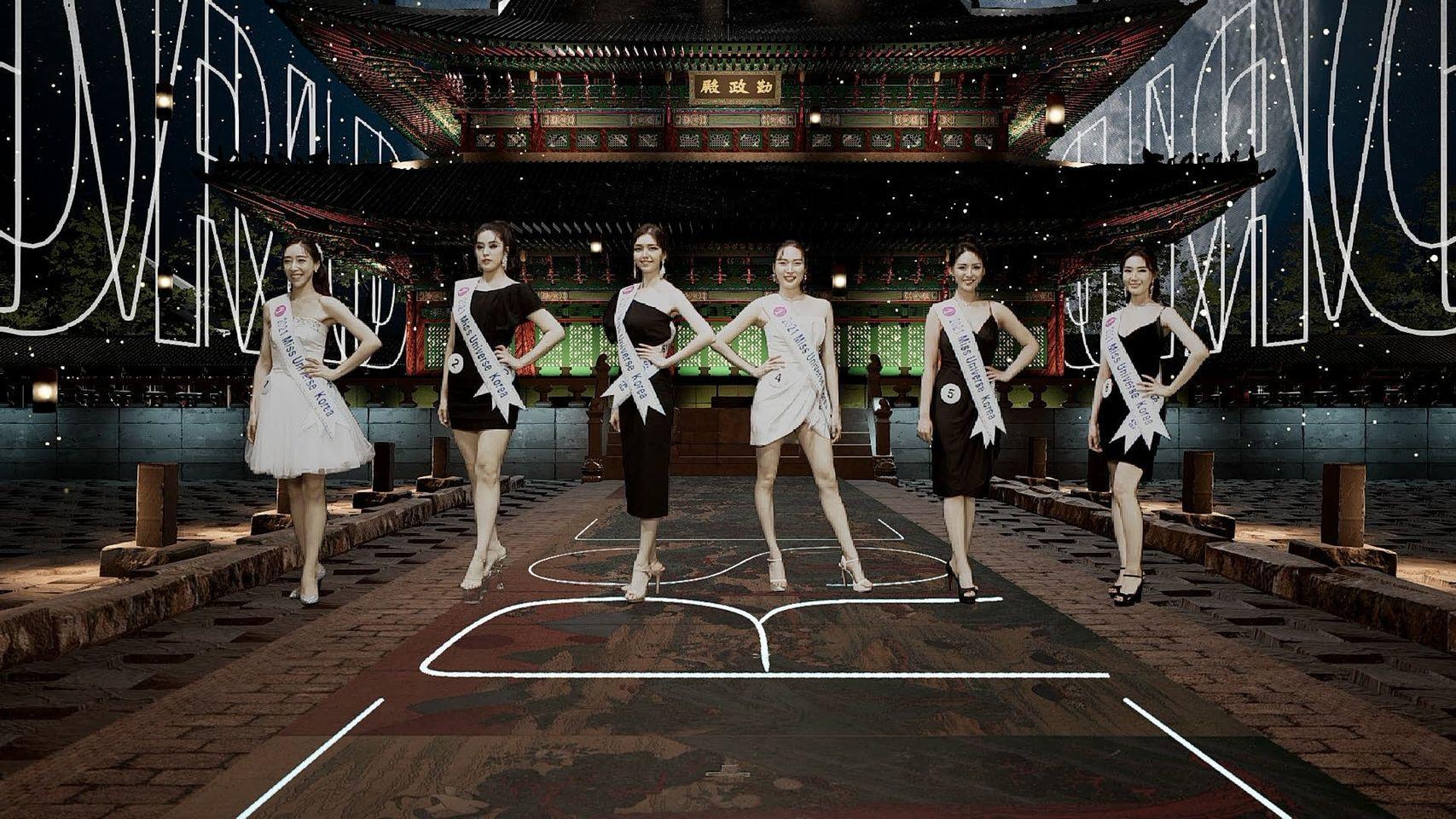 Sân khấu ảo, diễn ra chung kết Miss Universe Korea 2021.