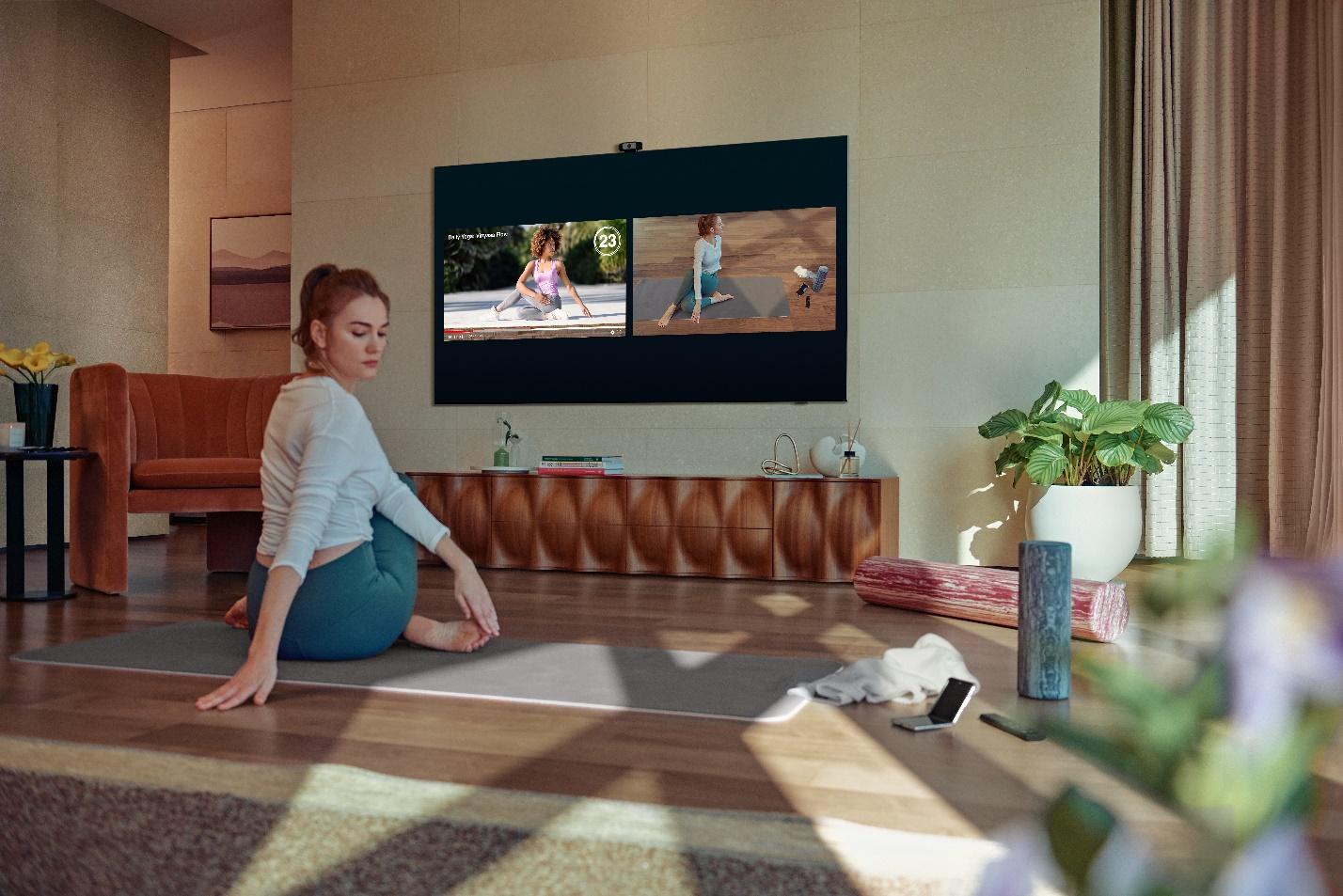 Người dùng có thể kết nối với huấn luyện viên hoặc bạn bè để cùng tập luyện với tính năng Multi View.