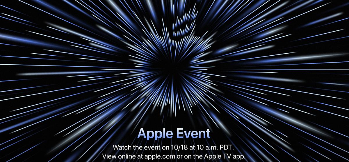 Thông báo về sự kiện ra mắt sản phẩm mới của Apple. Ảnh chụp màn hình